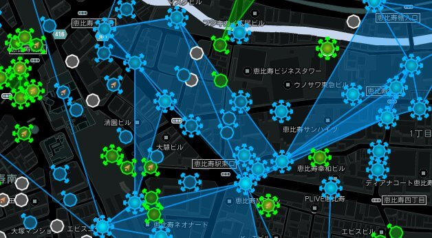 Intel Map - 恵比寿駅付近