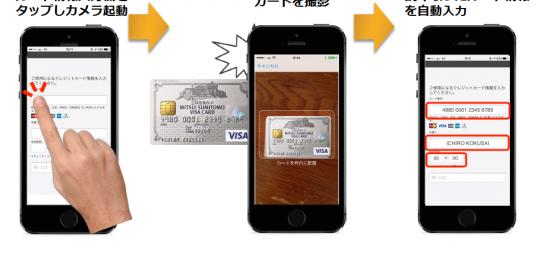 スマホアプリ向け クレジットカード情報入力のための画像文字認識ソリューション