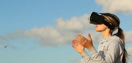 VR体験中の人