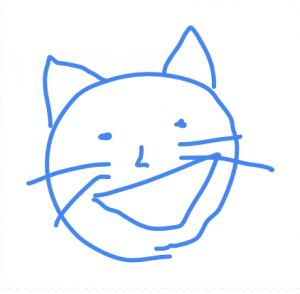 猫_手書き
