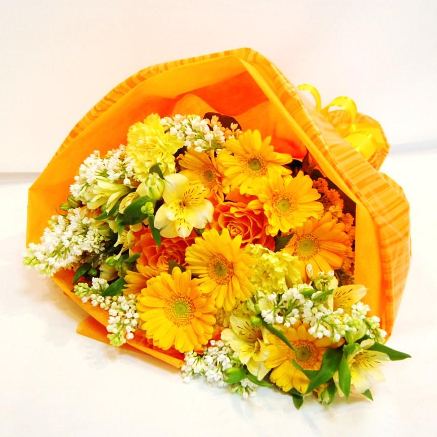 ひらい花店の花束